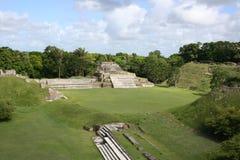 Ruines maya d'Altun ha photographie stock libre de droits