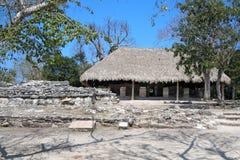 Ruines maya de Cozumel image libre de droits
