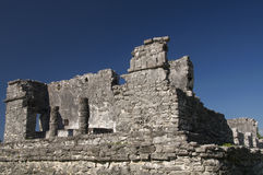 Ruines maya de temple chez Tulum Photographie stock libre de droits