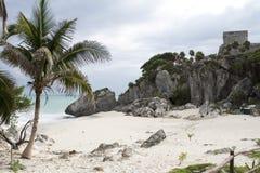 Ruines maya de Tulum Mexique image libre de droits