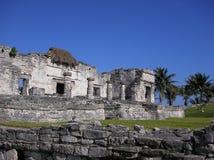 Ruines maya Mexique de Tulum Image libre de droits
