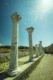 Ruines ncient de ville de  de Ð - colonnes du temple Photographie stock libre de droits