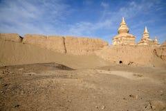 Ruines noires de ville Image stock