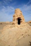 Ruines noires de ville Images libres de droits