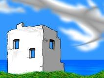 Ruines par la mer Image libre de droits