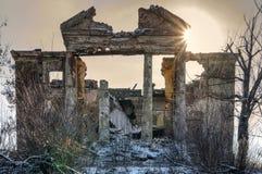 Ruines po ATO w Ukraina Zdjęcia Royalty Free