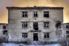 Ruines po ATO w Ukraina Obrazy Royalty Free