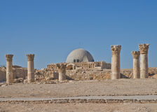 Ruines romaines à la citadelle, Amman Jordanie Image stock