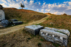Ruines romaines d'Ampitheater dans Salona Photo libre de droits