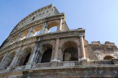 ruines romaines d'horizontal extérieur de Colisé Images stock