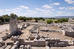 Ruines romaines dans Egnazia, Italie. images libres de droits