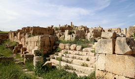 Ruines romaines dans la ville jordanienne de Jerash (Gerasa de l'antiquité), Jordanie Photos stock