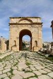 Ruines romaines dans la ville jordanienne de Jerash (Gerasa de l'antiquité), Jordanie Image stock
