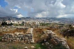 Ruines romaines de Byblos, côte méditerranéenne, Liban Images stock
