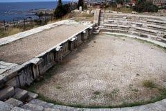 Ruines romaines de Byblos, côte méditerranéenne, Liban Photographie stock libre de droits