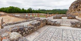 Ruines romaines de Conimbriga Vue d'Overal du svastika Domus Image libre de droits