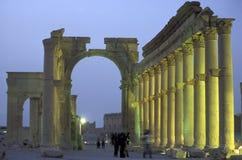 RUINES ROMAINES DE PALMYRA DE LA SYRIE Photo libre de droits