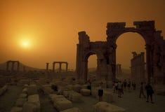 RUINES ROMAINES DE PALMYRA DE LA SYRIE Images libres de droits