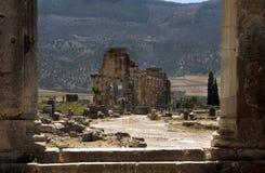 Ruines romaines de Volubilis Photographie stock libre de droits