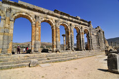 Ruines romaines de Volubillis Photos libres de droits