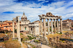 Ruines romaines à Rome, forum Image libre de droits