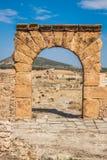 Ruines romaines Sanctuaire Esculape Thuburbo Majus Tunisie Photo stock