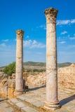 Ruines romaines Sanctuaire Esculape Thuburbo Majus Tunisie Photographie stock libre de droits