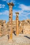 Ruines romaines Sanctuaire Esculape Thuburbo Majus Tunisie Photo libre de droits