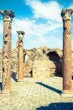 Ruines romaines Sanctuaire Esculape Thuburbo Majus Tunisie Photos libres de droits