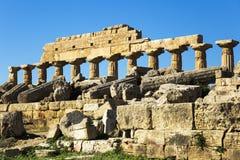 Ruines rondes de temple de Sarmisegetuza Regia Images libres de droits