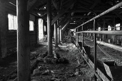 Ruines rurales de ferme Images libres de droits