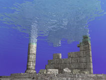 Ruines sous-marines Images stock
