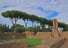 Ruines sur la colline palatine Photo stock