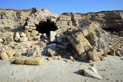 Ruines sur la plage Photographie stock