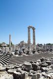 Ruines of Temple of Apollo in antique city of Didyma Stock Photo: Royalty Free Stock Photo