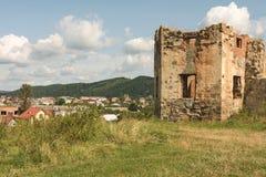 Ruines uniques de château Photo stock
