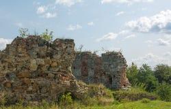 Ruines uniques de château Images libres de droits