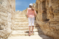Ruines van Kourion in Cyprus Stock Foto's