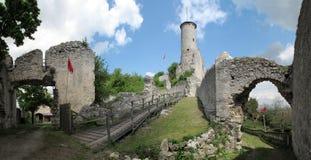 Ruineschloß Falkenstein stockfoto