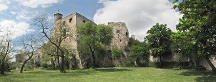Ruineschloß Falkenstein stockbilder