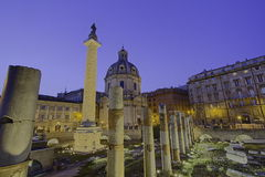 Ruinesforum romain Italie van Rome Royalty-vrije Stock Foto's