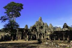 Ruinieren Sie alten Bayon-Tempel in Siem Reap, Kambodscha lizenzfreie stockbilder