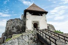 Ruinieren Sie Schloss von Visegrad, Ungarn, alte Architektur mit stai Stockfotos