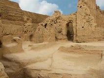 Ruiniert alte Stadt von Jiaohe in China lizenzfreie stockfotos