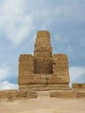 Ruiniert alte Stadt von Jiaohe in China stockbilder