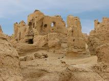 Ruiniert alte Stadt von Jiaohe in China lizenzfreies stockfoto