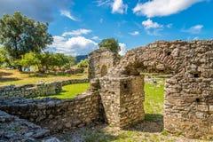 Ruiniert das römische Haus bei Diaporit Stockfoto