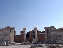 Ruiniert Kirche von Johannes in Selcuk Turkey Lizenzfreies Stockfoto