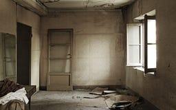 Ruiniert und leeren Sie Hauptinnenraum Stockfotografie