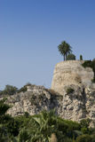 Ruinierte alte Schlosswände in Monaco. Stockfoto